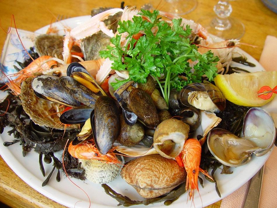 Marisco, producto típico de la gastronomía de Galicia